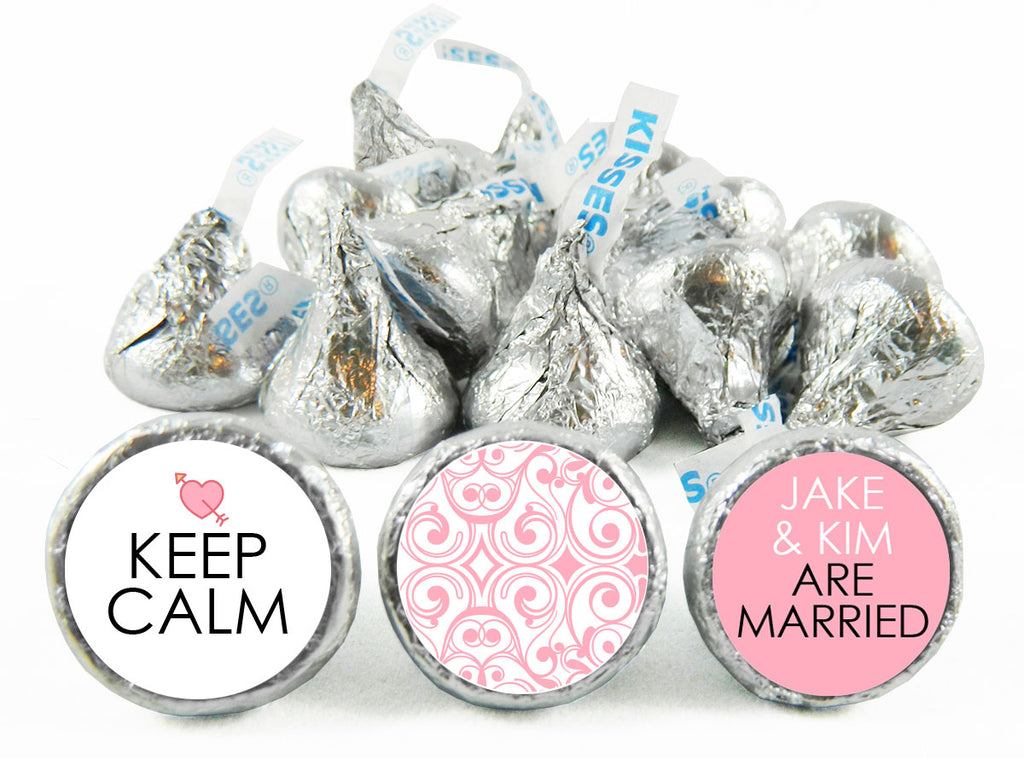 Keep Calm Wedding Labels for Hershey's Kisses