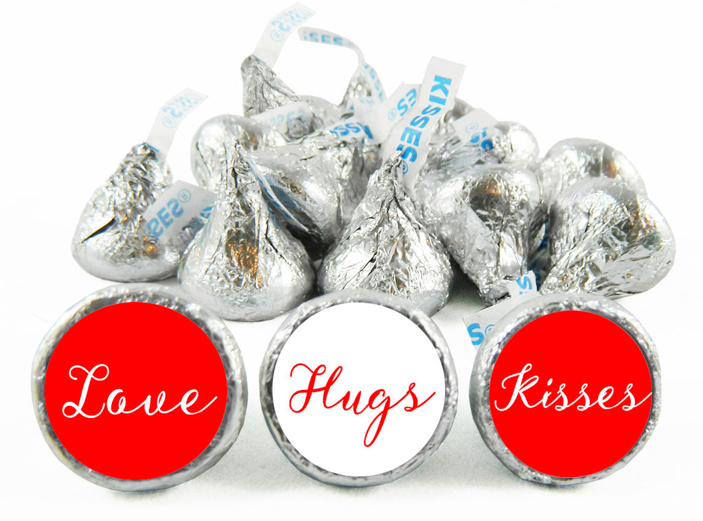 Love Hugs Kisses Wedding Labels for Hershey's Kisses