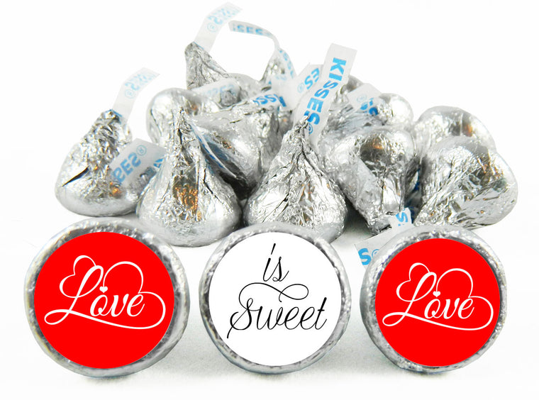 Love is Sweet Script Wedding Labels for Hershey's Kisses