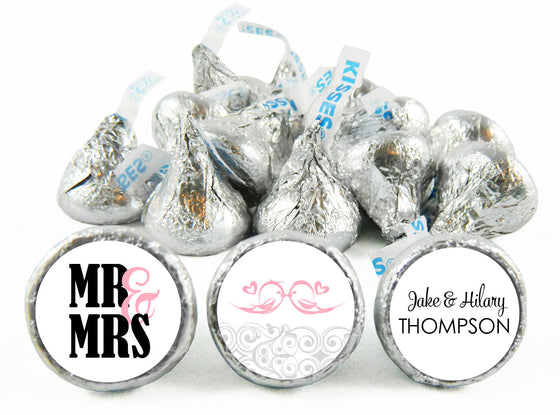 Kissing Birds Wedding Anniversary Labels for Hershey's Kisses