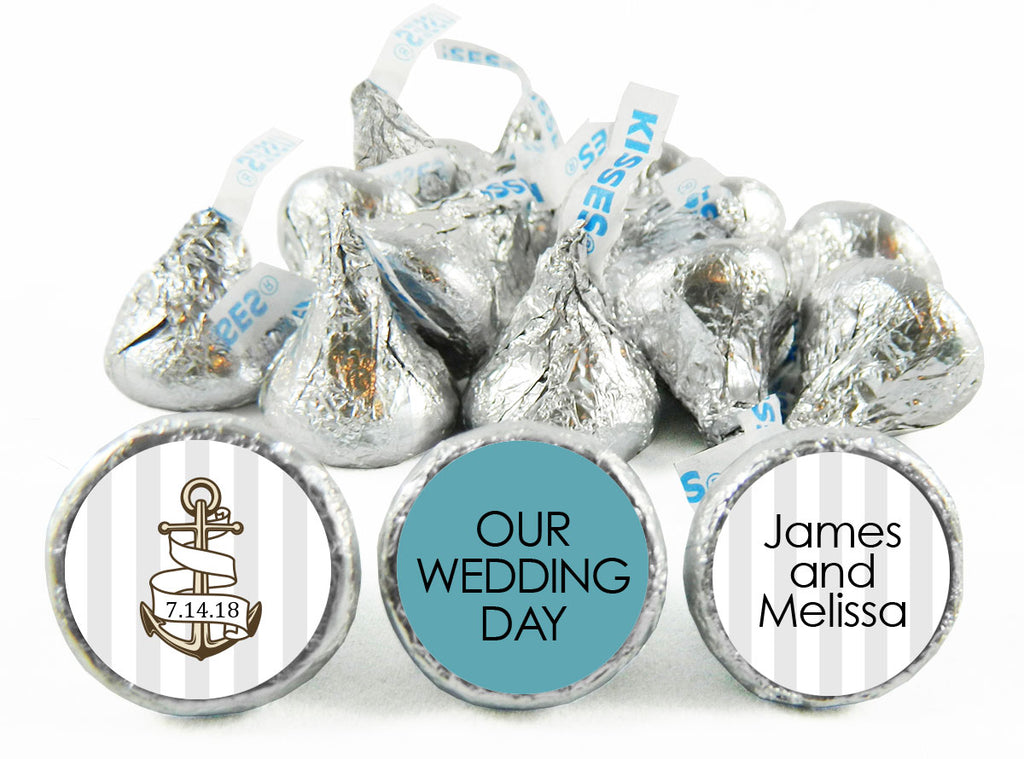Nautical Anchor Wedding Labels for Hershey's Kisses