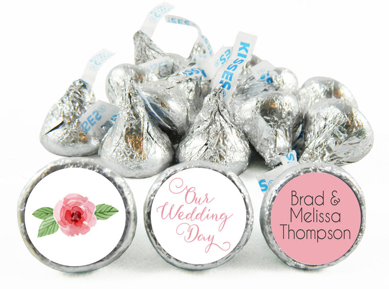 Our Wedding Day Wedding Labels for Hershey's Kisses