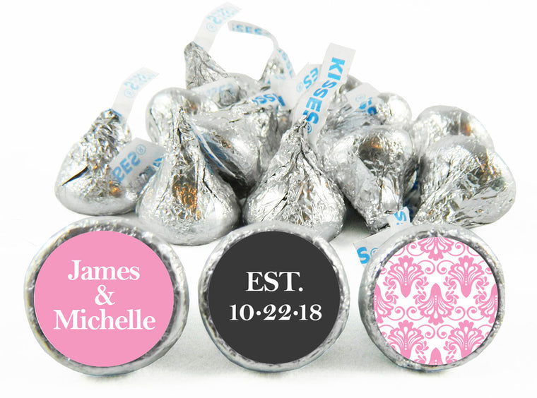Paisley Wedding Anniversary Labels for Hershey's Kisses