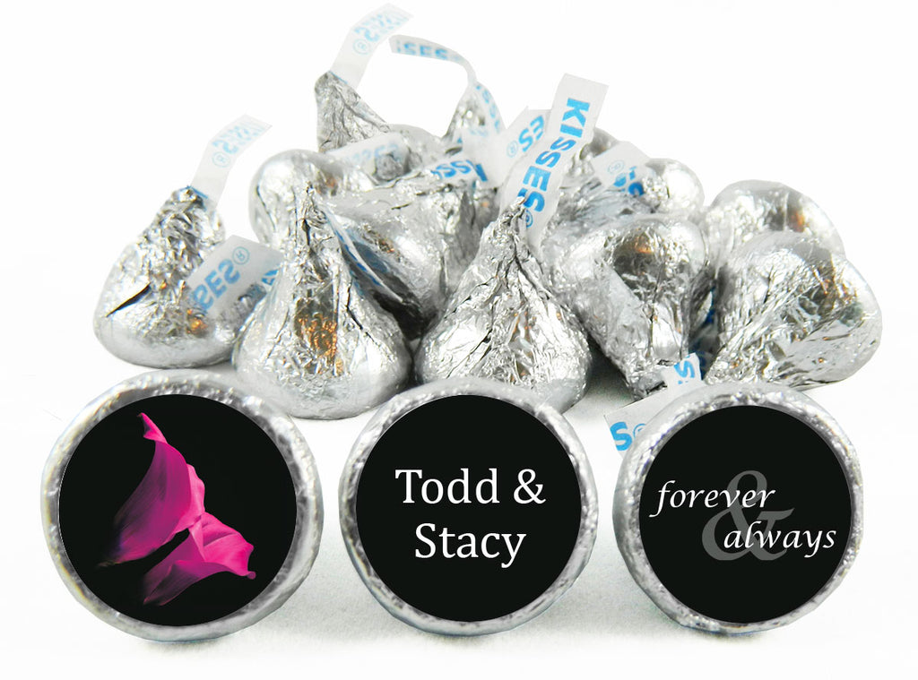 Tulips Wedding Anniversary Labels for Hershey's Kisses
