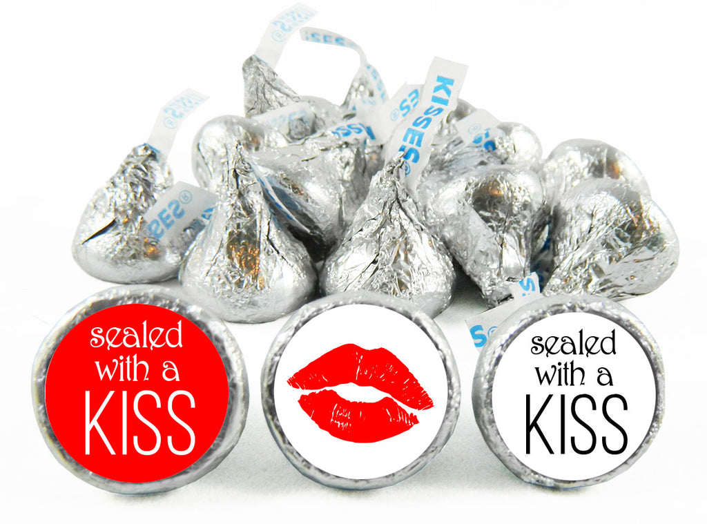 Sealed with a Kiss Wedding Labels for Hershey's Kisses