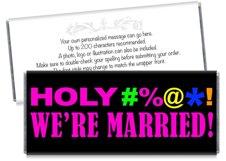 Pink Holy Bleep We're Wedding Candy Bar Wrappers
