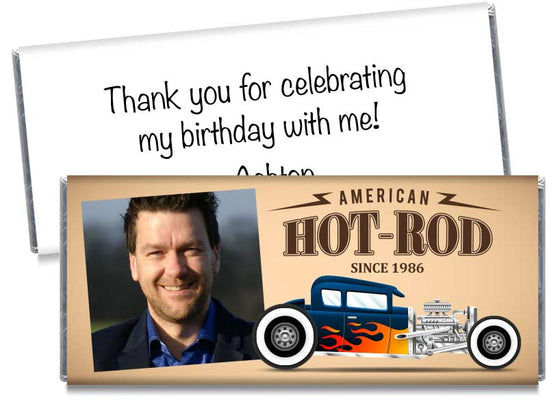 Hot Rod Adult Birthday Party Candy Bar Wrappers