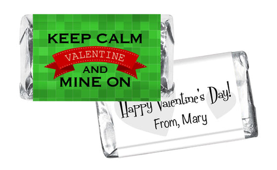 Keep Calm and Mine On Valentine's Day Mini Bar Wrappers