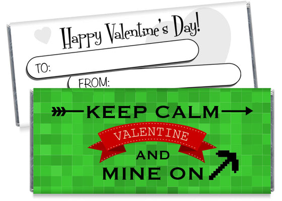 Keep Calm and Mine On Valentine's Day Candy Bar Wrappers