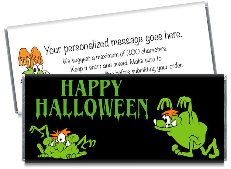Crazy Monsters Halloween Candy Bar Wrappers