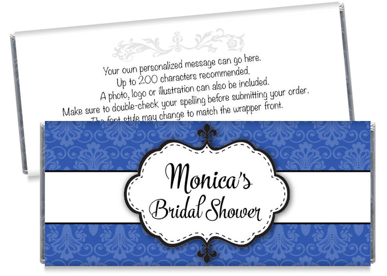 Paisley Bridal Shower Candy Bar Wrappers