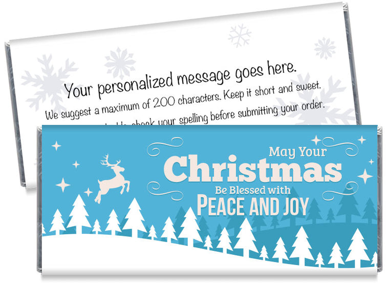 Peace and Joy Christmas Candy Bar Wrappers