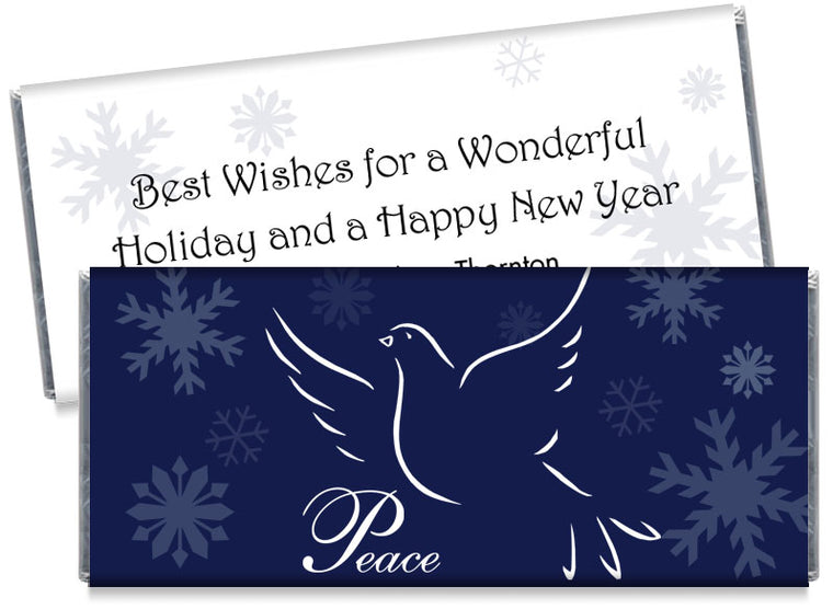 Peace Dove Holiday Candy Bar Wrappers