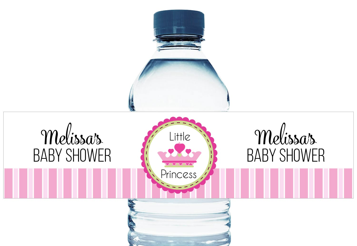 Little Princess Personalized Girl Baby Shower Water Bottle Labels
