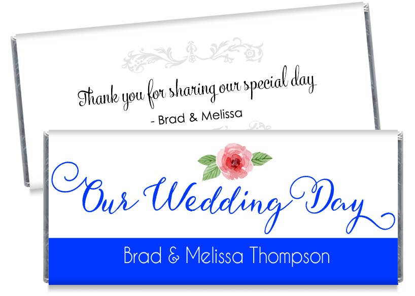 Our Wedding Day Script Wedding Candy Bar Wrappers