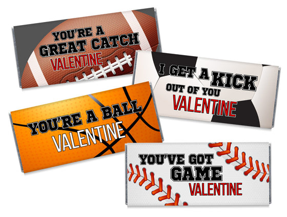 All-Star Valentine's Day Candy Bar Wrappers