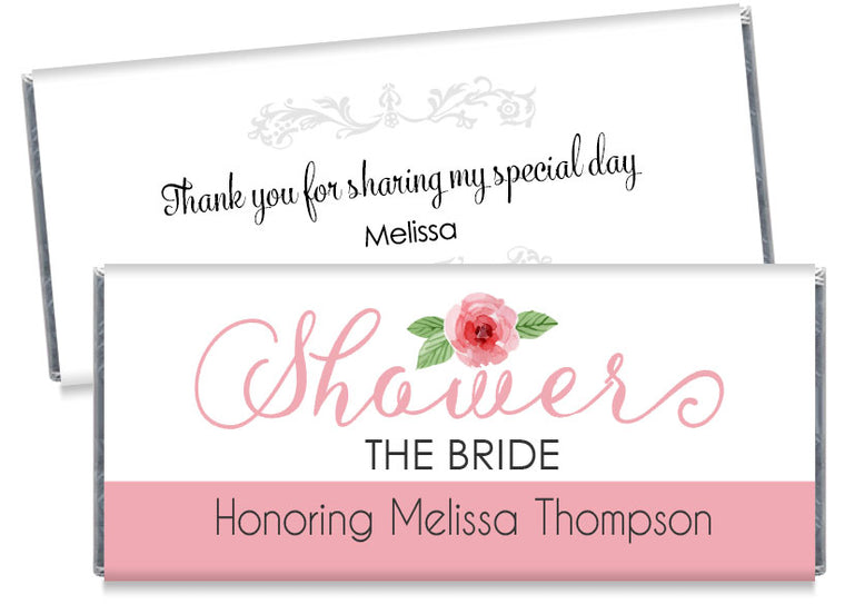 Script Bridal Shower Candy Bar Wrappers