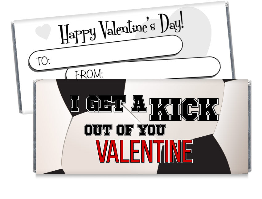 Soccer Valentine's Day Candy Bar Wrappers