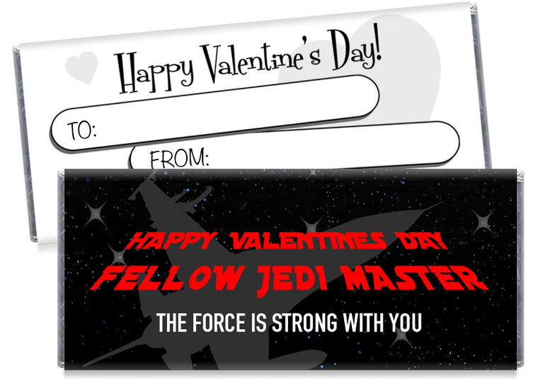 Fellow Jedi Master Valentine's Day Candy Bar Wrappers