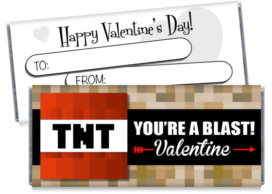 You're a Blast! Valentine's Day Candy Bar Wrappers