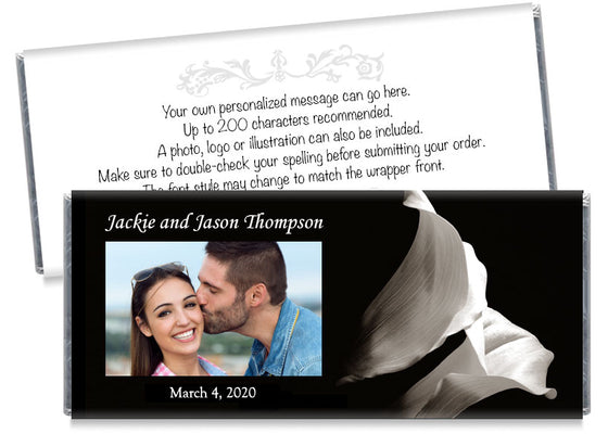 Tulip Photo Wedding Candy Bar Wrappers