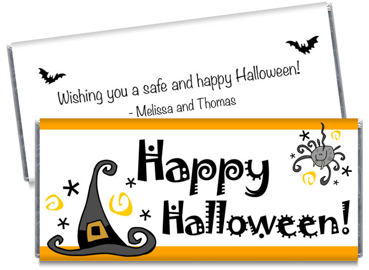 Witches Hat Halloween Candy Bar Wrappers