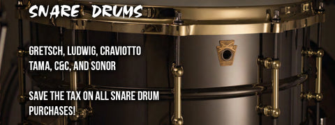 Boxing Day Drum And Perucussion Sales Event Snare Drums