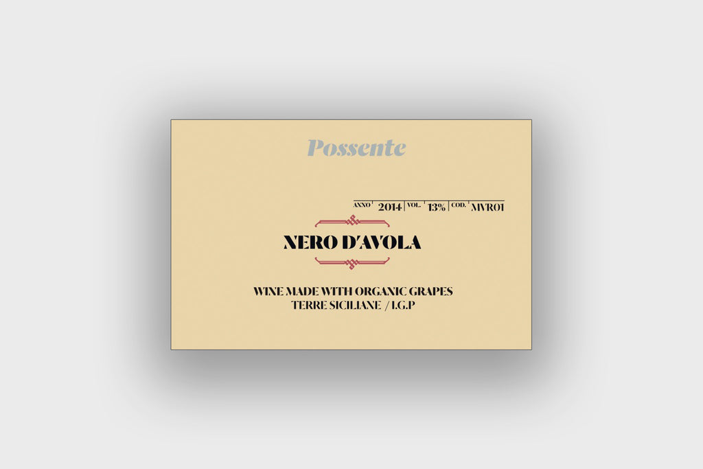 Nero D'Avola Organic Red Wine