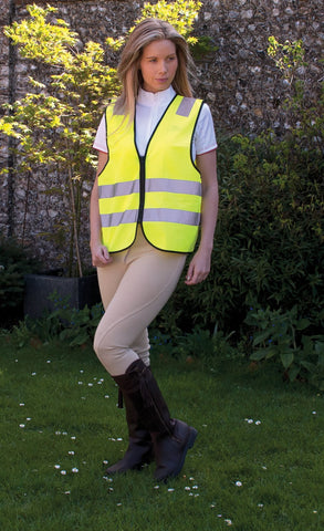 HARLEQUIN ADULTS HI-VIZ ZIPPED TABARD