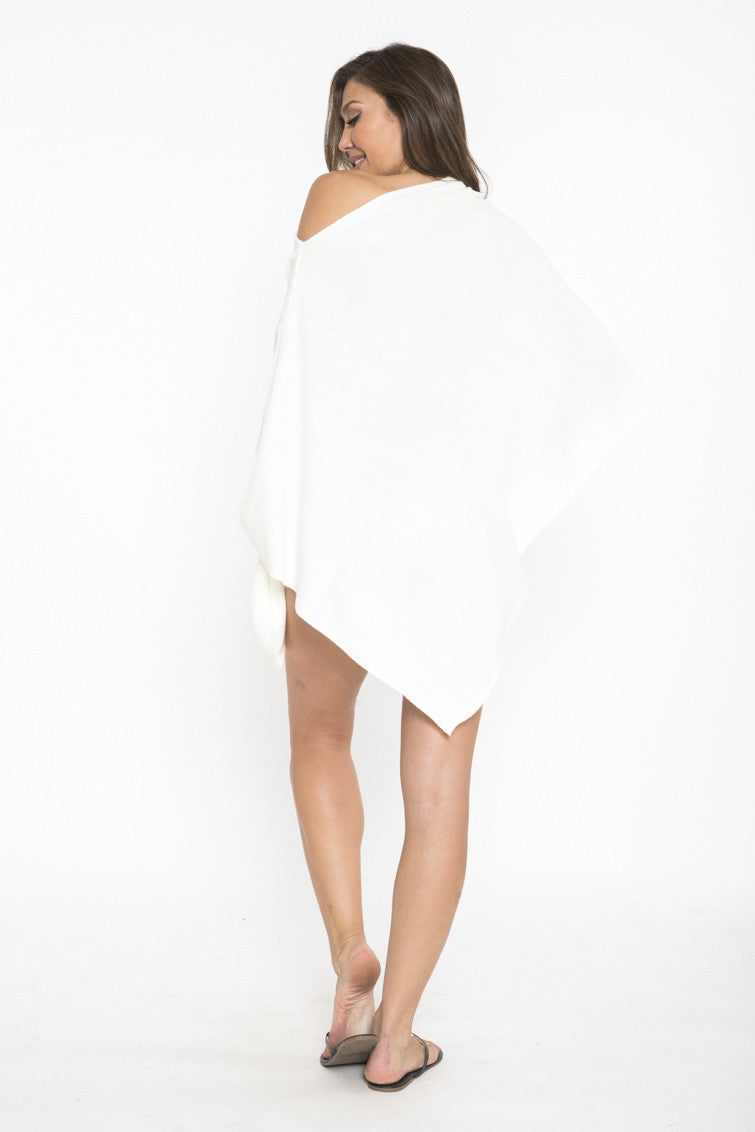 Siloett Coverup Ivory Off The Shoulder Poncho