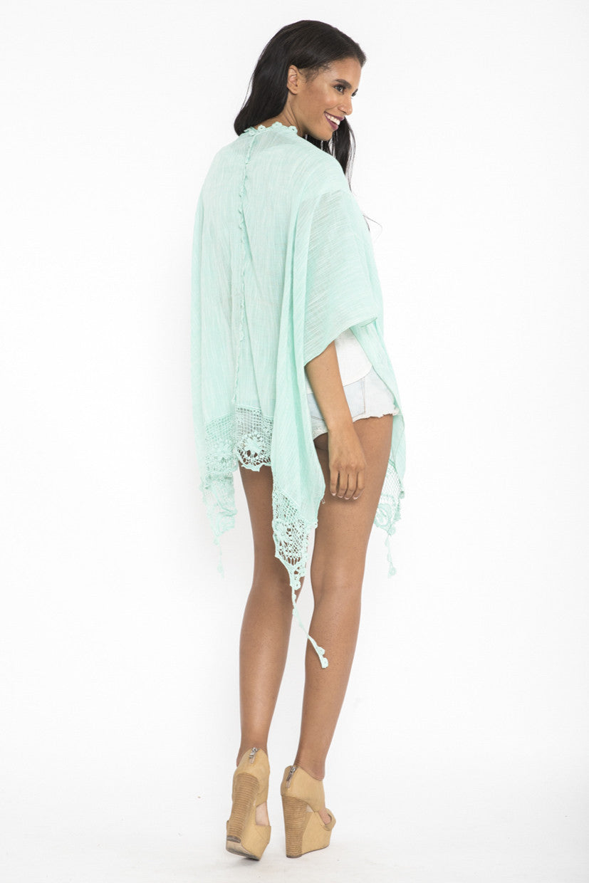Siloett Coverup Mint Dulce Kimono Throwover Cover Up