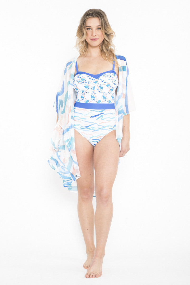 Siloett Coverup One Size Fits Curvy Floating Petals Kabuki Cover Up