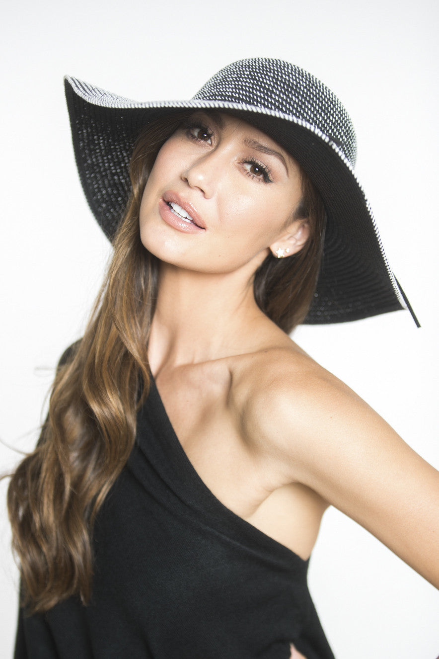 Siloett Hats No Size Brigitte Striped Floppy Hat
