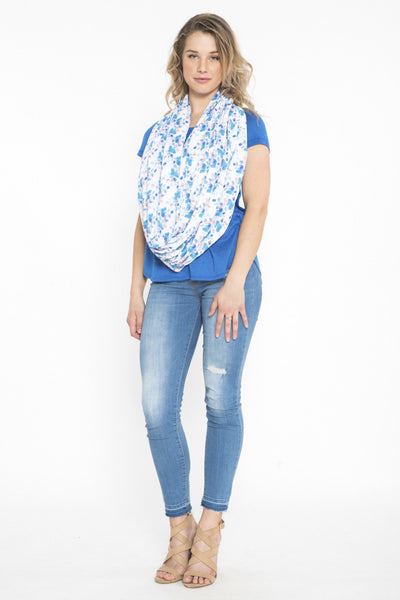 Siloett Scarf Floating Petals Infinity Scarf