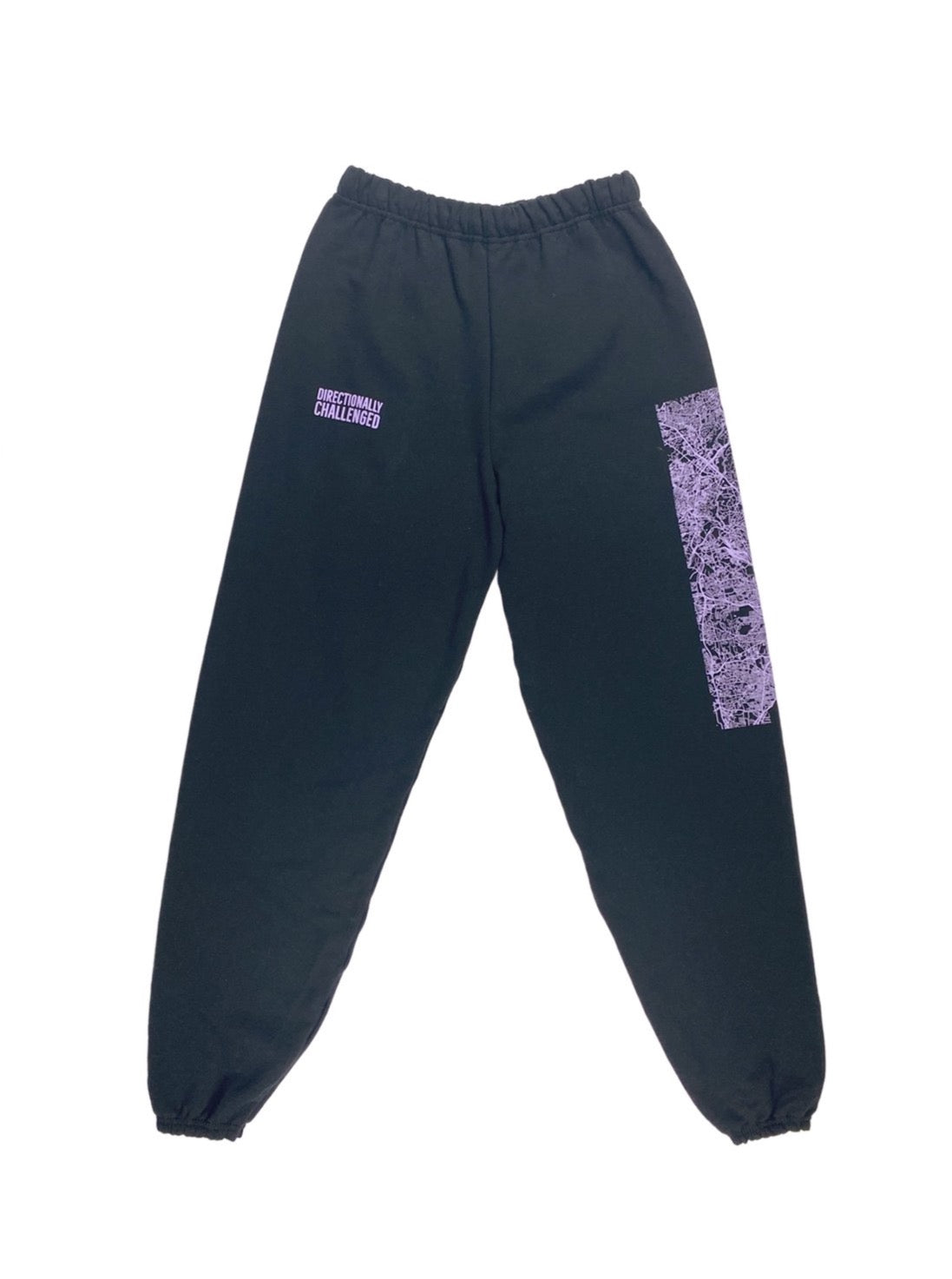 DIRECTIONALLY CHALLENGED ROAD MAP SWEAT PANT BLACK