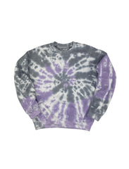 DIRECTIONALLY CHALLENGED ROAD MAP CREWNECK SWEATSHIRT TIE DYE
