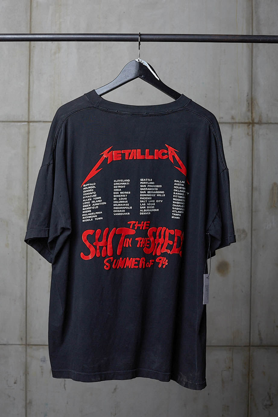 METALLICA SHIT IN THE SHEDS 1994 SUMMER TOUR TEE