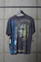 KURT COBAIN NIRVANA BOOTLEG TRIBUTE TEE DOUBLE GRAPHIC
