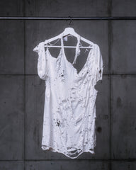 Blank Ultra Distressed Editorial Tee