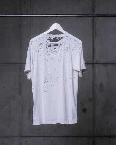 Blank White Distressed Tee