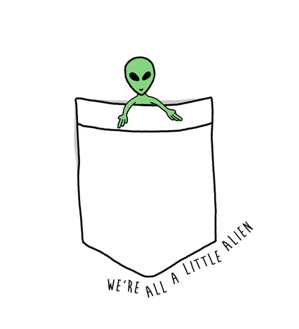 A LITTLE ALIEN CREWNECK SWEATSHIRT