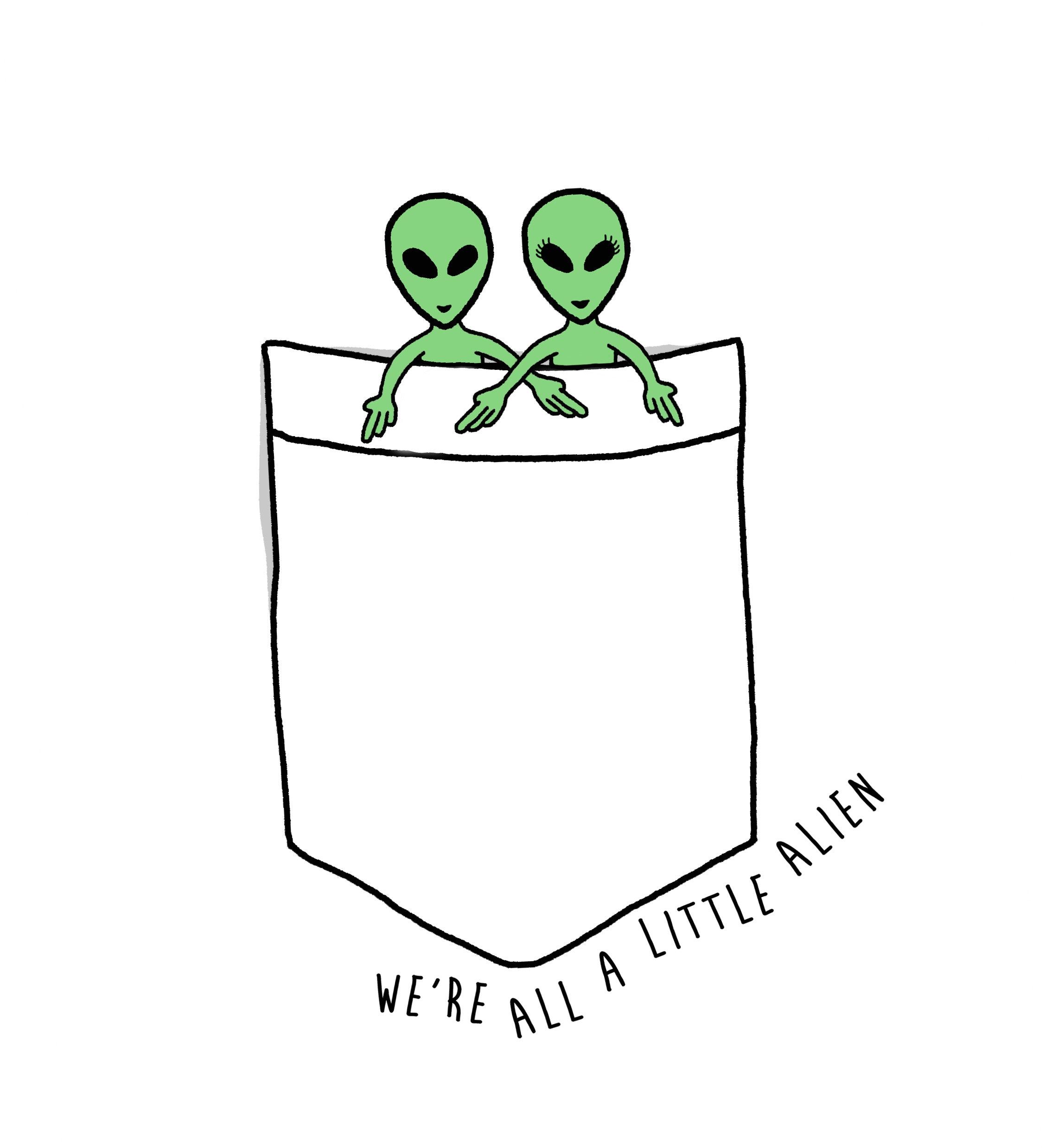 A LITTLE ALIEN LOVE SHORT SLEEVE