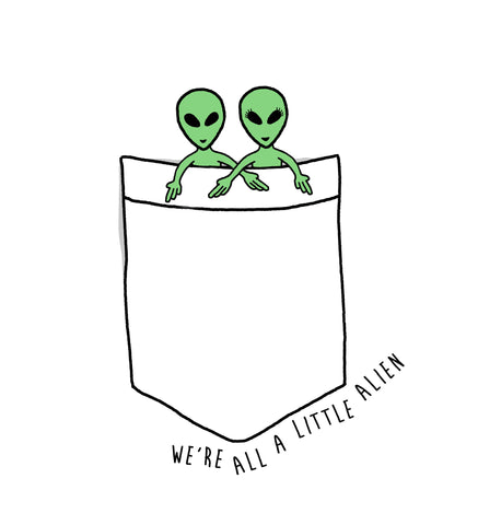 A LITTLE ALIEN LOVE CREWNECK SWEATSHIRT