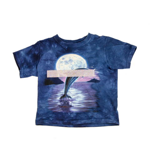 BABY OVER THE MOON DOLPHIN TEE DARK & STORMY