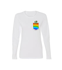 COSMIC LOVE PRIDE EDITION WOMENS LS TEE WHITE RAINBOW