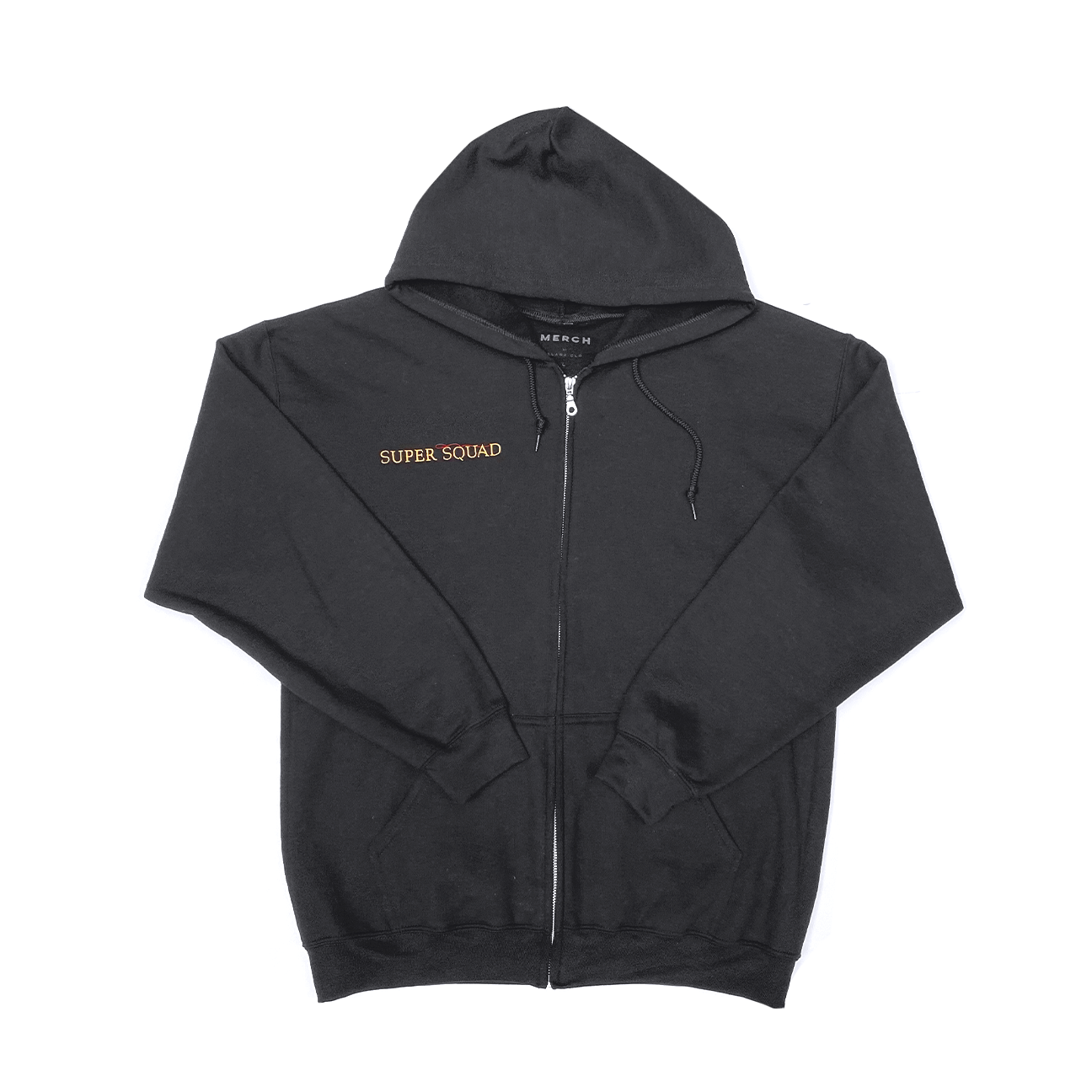SUPER SQUAD ZIP UP HOODIE BLACK