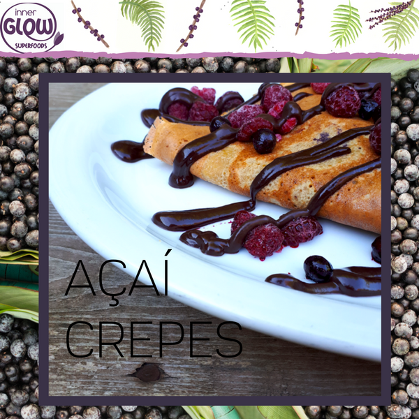 High Protein Crepes with Açaí Chocolate Sauce (Sugar-free, Gluten-free, Grain-free)