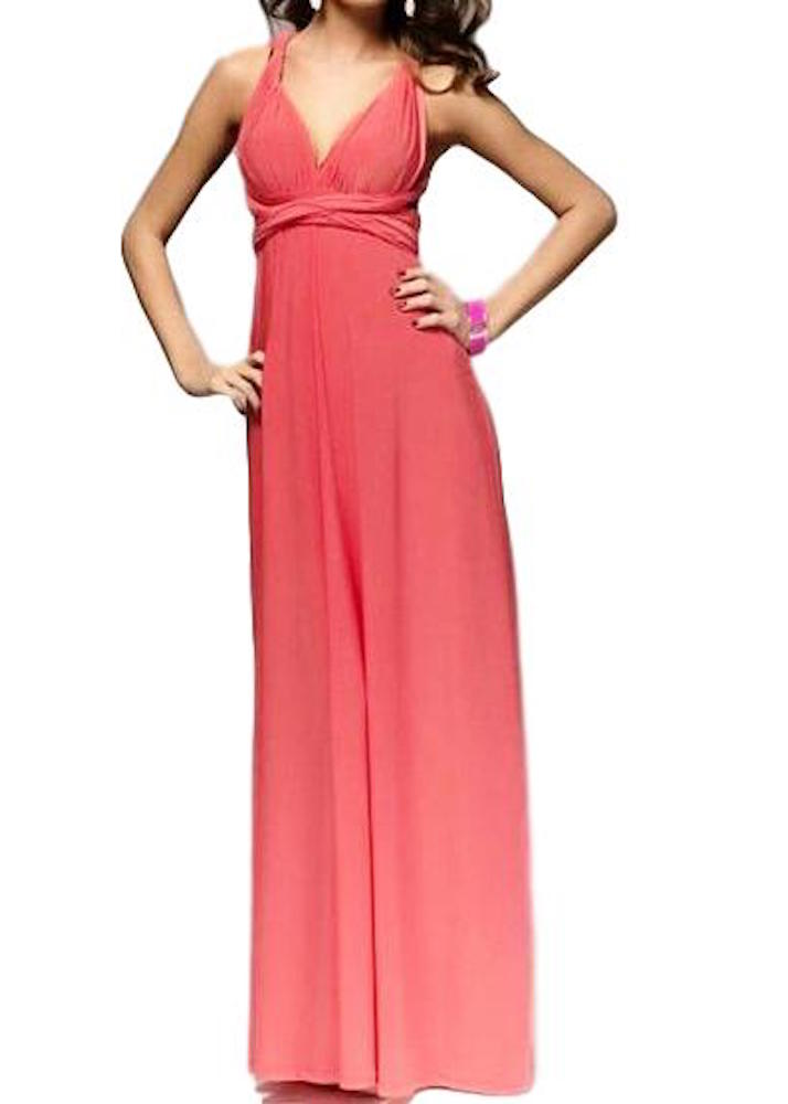 Women's Amazing Coral Convertible Wear How You Want Maxi Dress