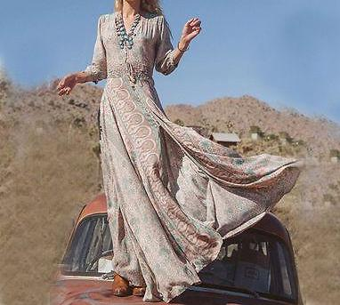 Women's Boho Summer Casual Chiffon Beach Maxi Dress