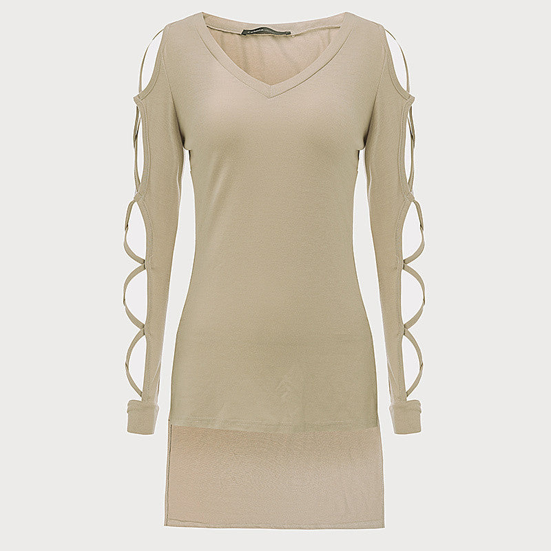 Ultra Women's Lace up Sleeve Top/Blouse Choose Khaki or Black